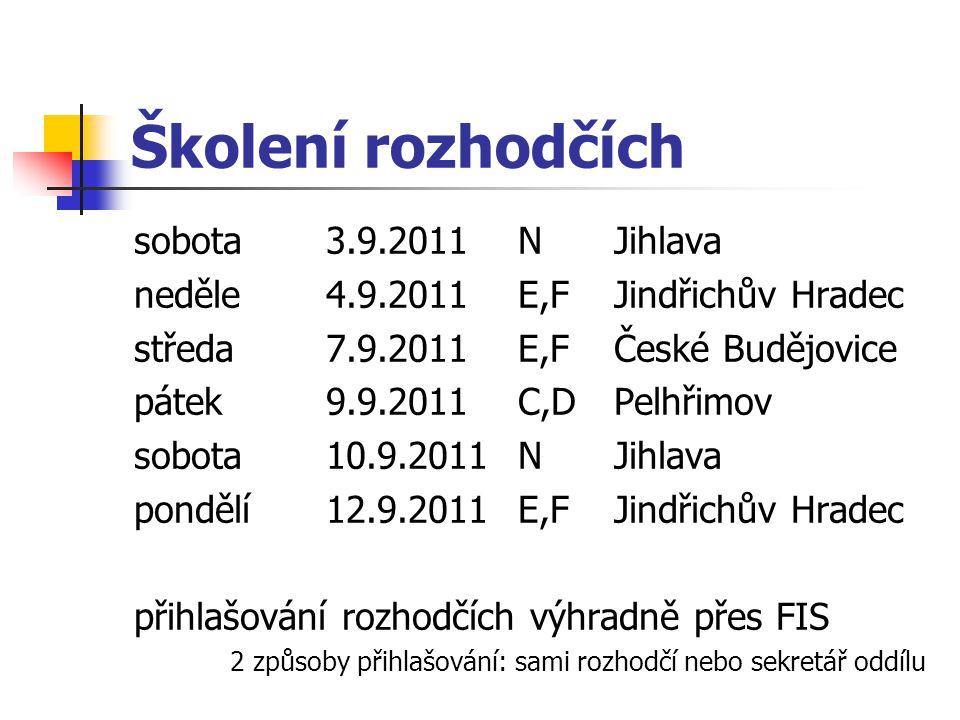 Školení rozhodčích sobota 3.9.2011 N Jihlava