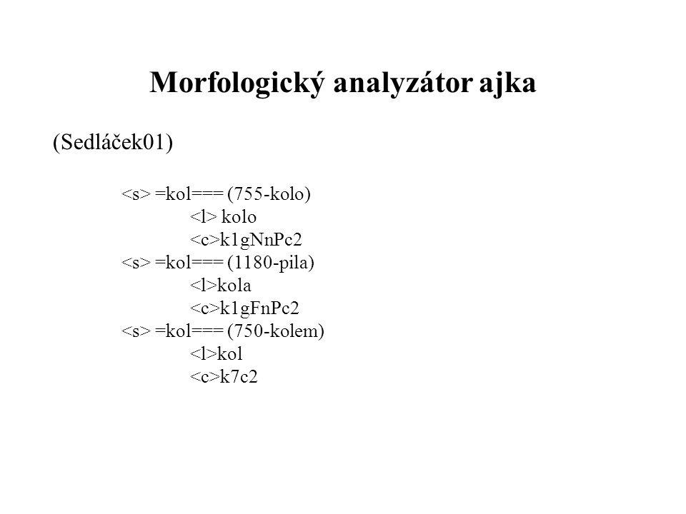 Morfologický analyzátor ajka