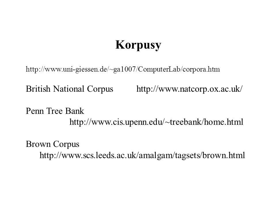 Korpusy http://www.uni-giessen.de/~ga1007/ComputerLab/corpora.htm