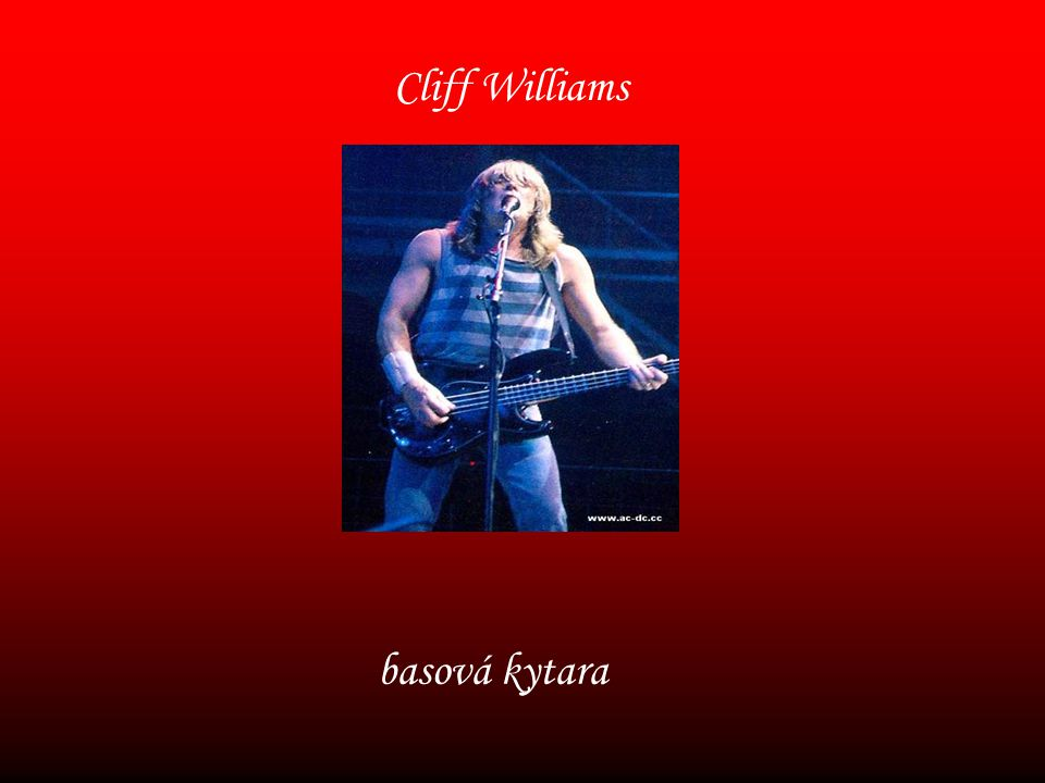 Cliff Williams basová kytara