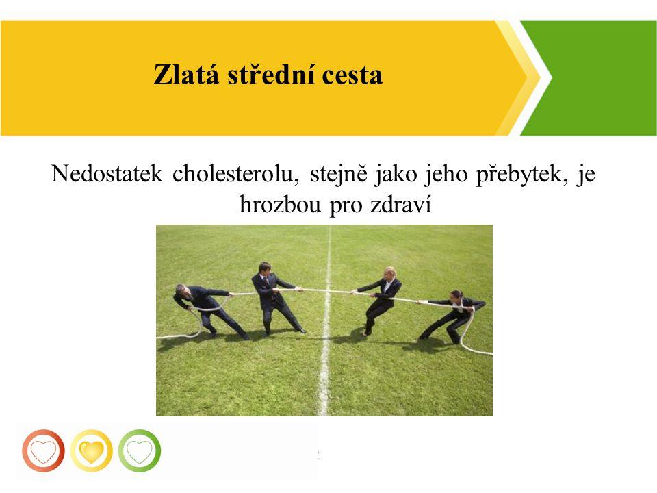 Zlatá střední cesta Nedostatek cholesterolu, stejně jako jeho přebytek, je hrozbou pro zdraví 12