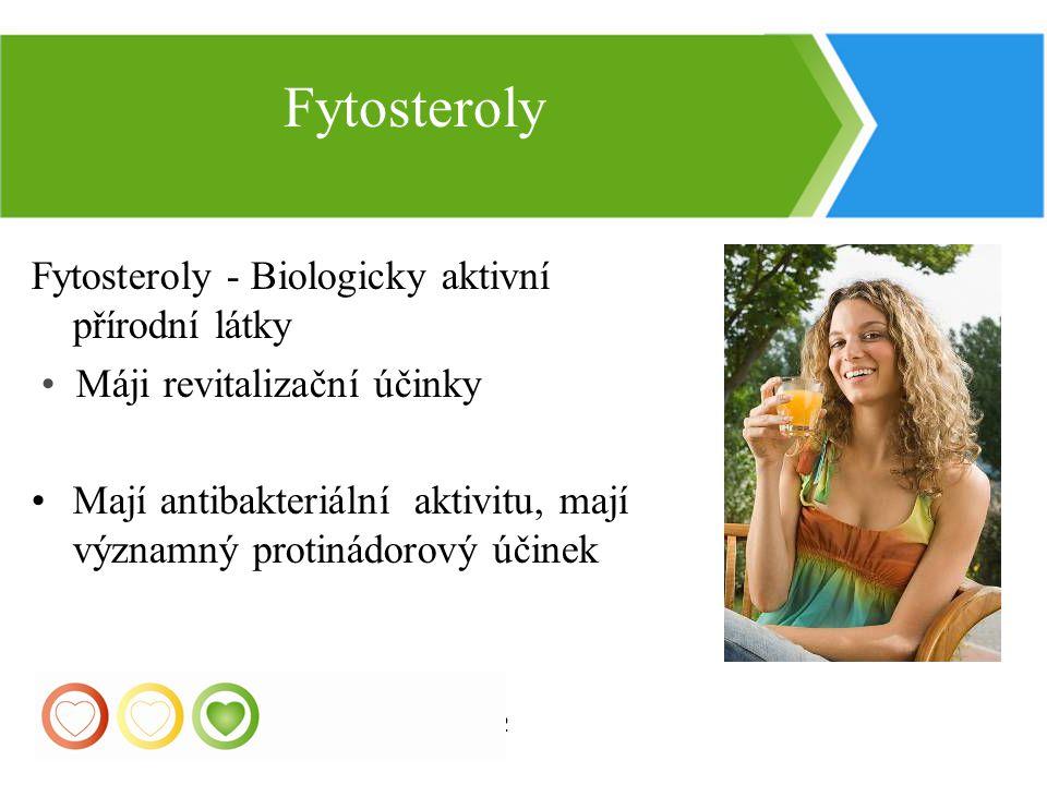 Fytosteroly Fytosteroly - Biologicky aktivní přírodní látky