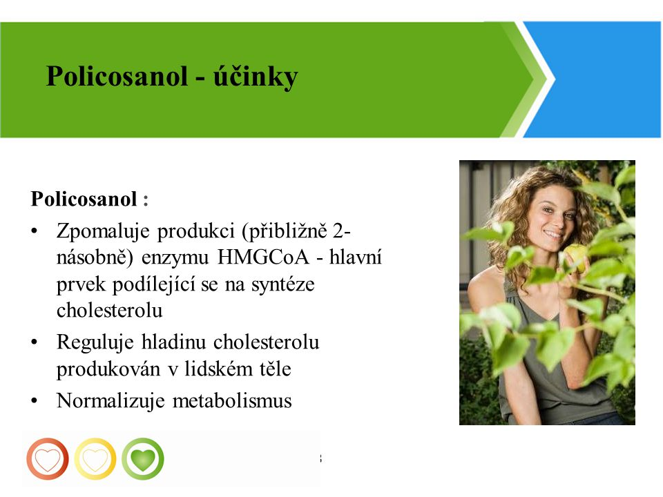 Policosanol - účinky Policosanol :