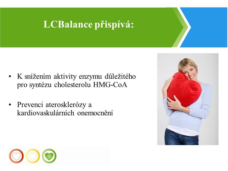 LСBalance přispívá: K snížením aktivity enzymu důležitého pro syntézu cholesterolu HMG-CoA. Prevenci aterosklerózy a kardiovaskulárních onemocnění.