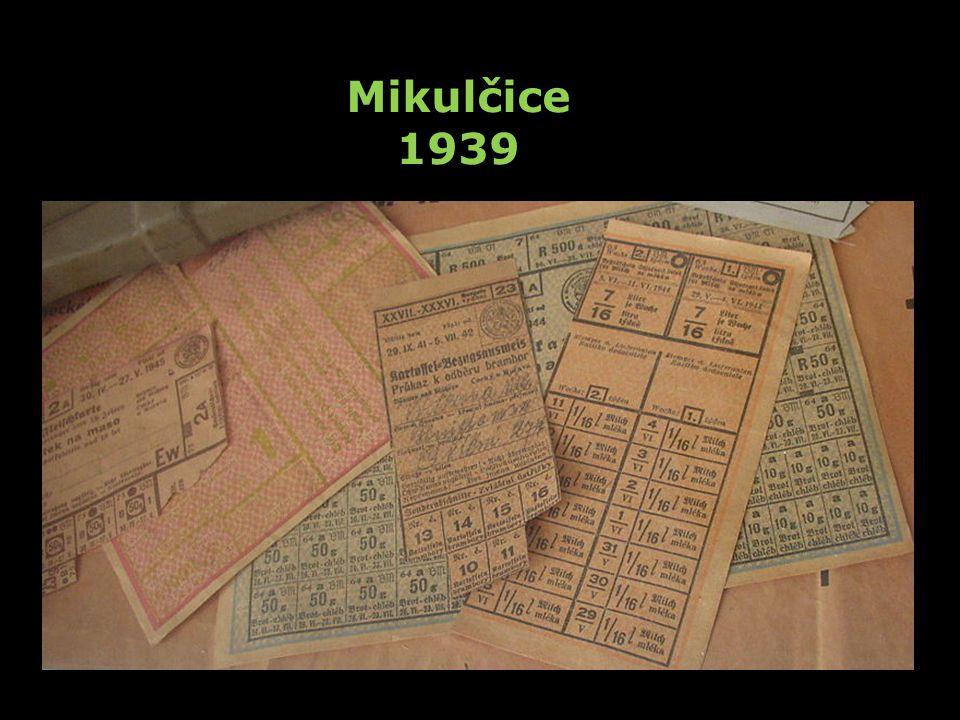 Mikulčice 1939 Zaveden pravostranný silniční provoz.