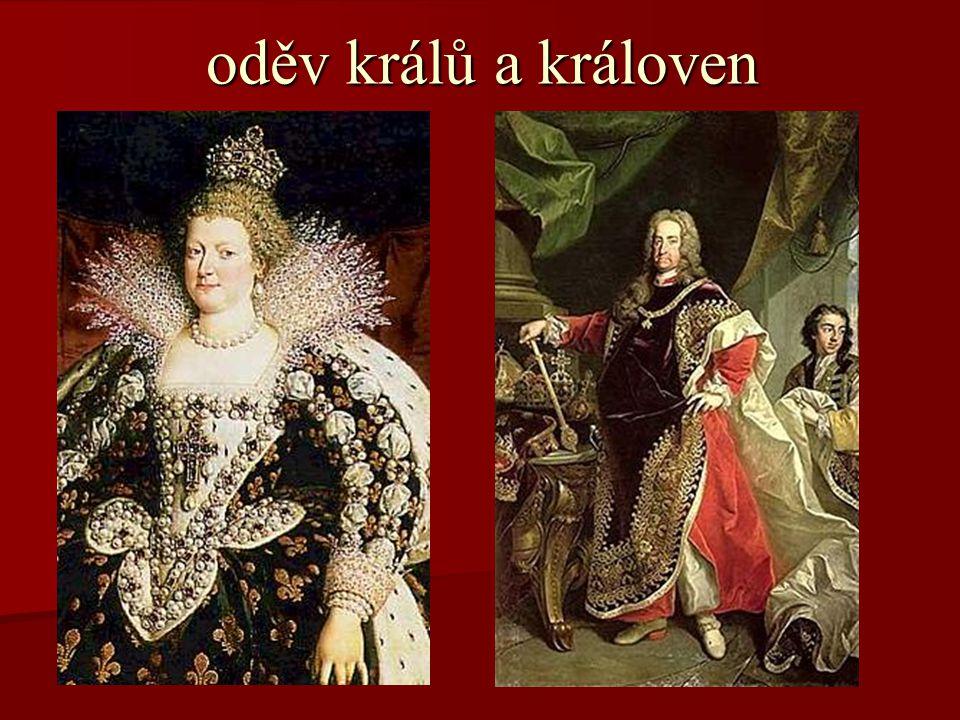 oděv králů a královen