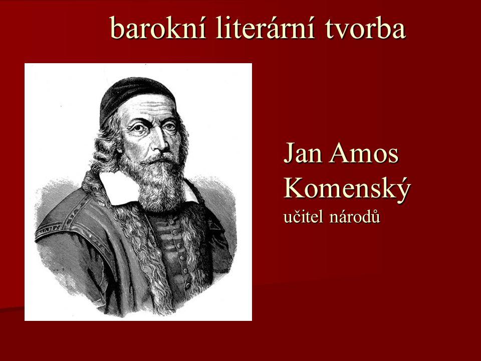 barokní literární tvorba