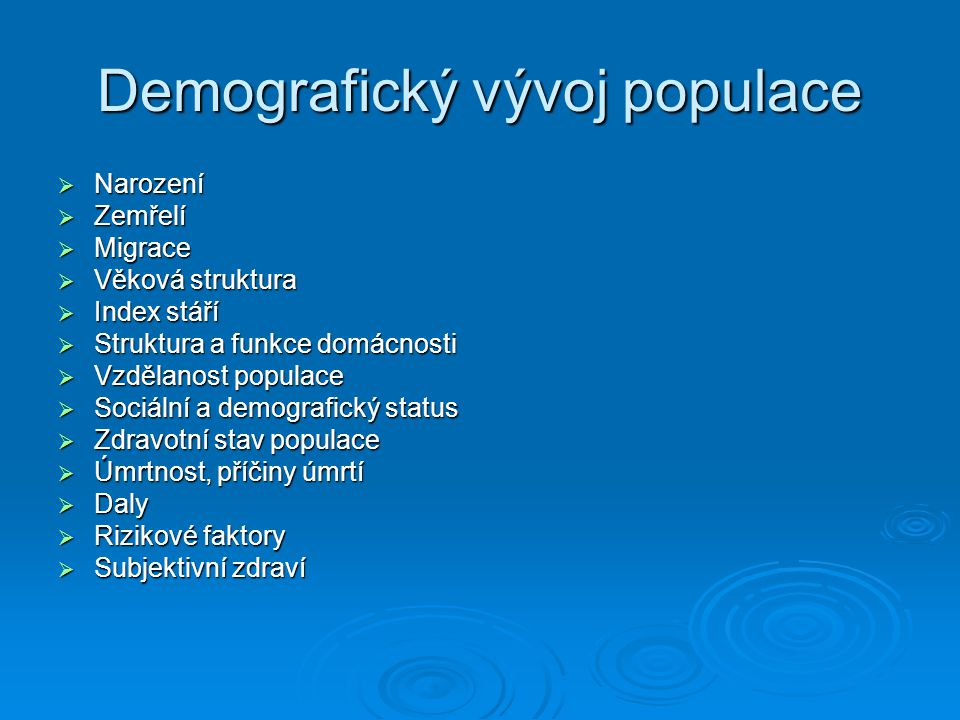 Demografický vývoj populace