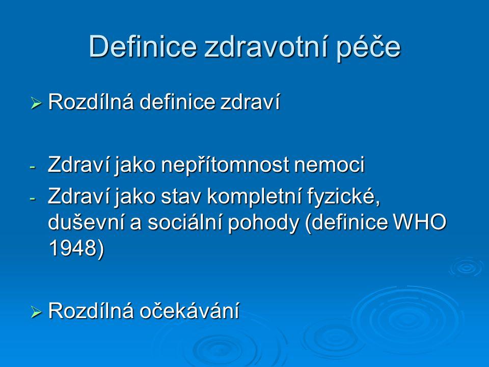 Definice zdravotní péče