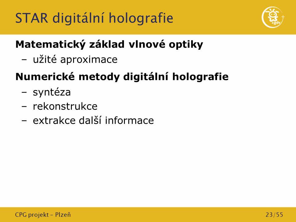 STAR digitální holografie