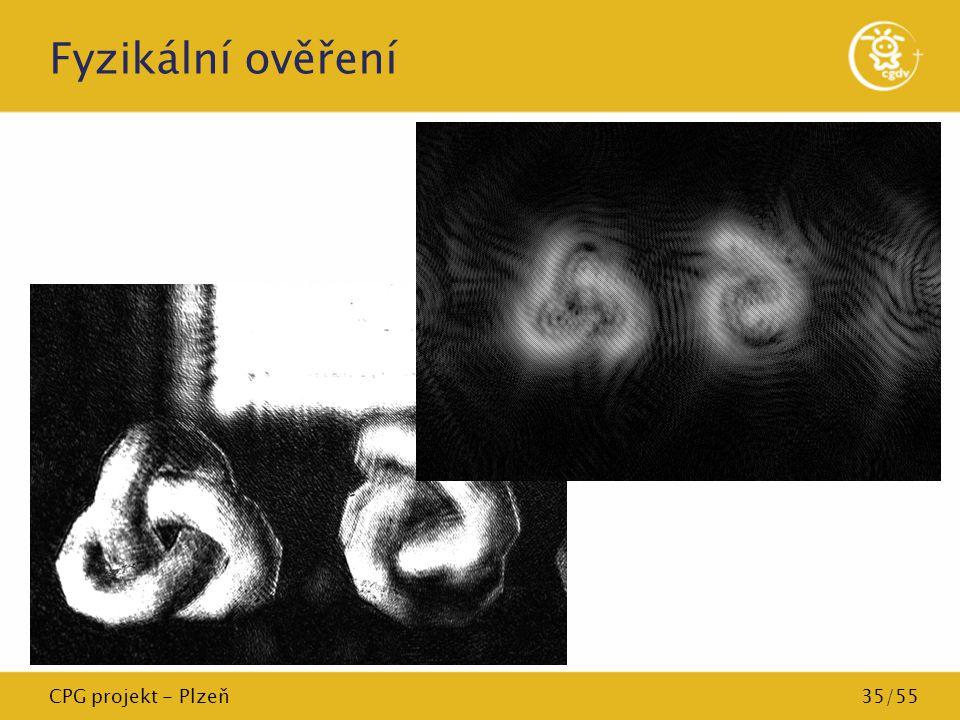 Fyzikální ověření CPG projekt - Plzeň