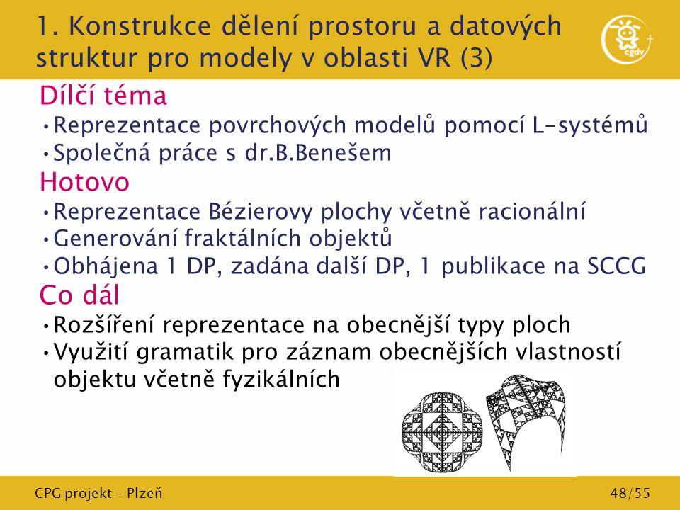 1. Konstrukce dělení prostoru a datových struktur pro modely v oblasti VR (3)