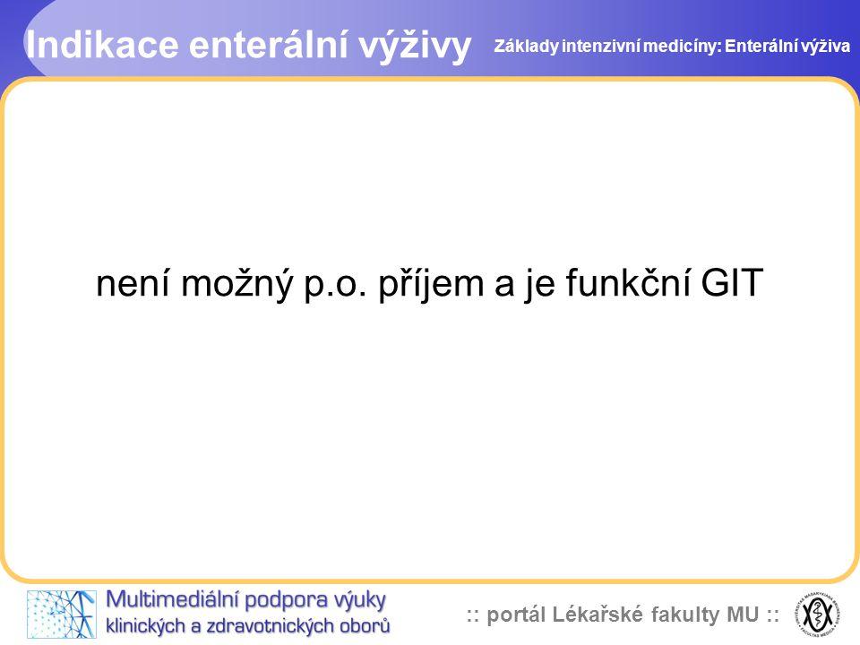 není možný p.o. příjem a je funkční GIT