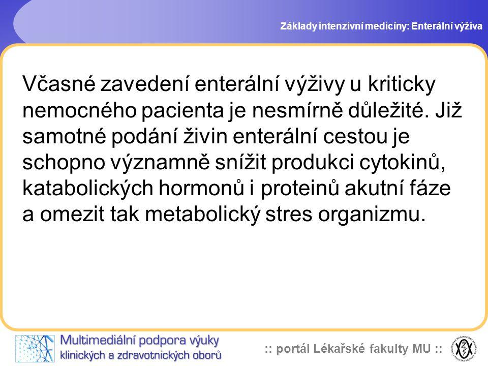 Základy intenzivní medicíny: Enterální výživa