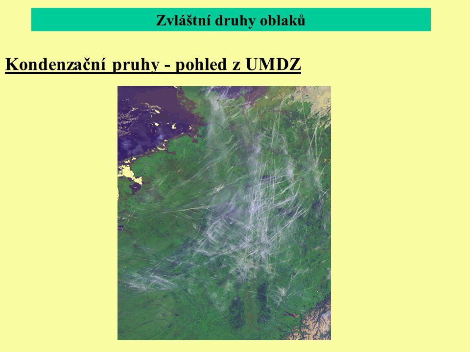 Kondenzační pruhy - pohled z UMDZ