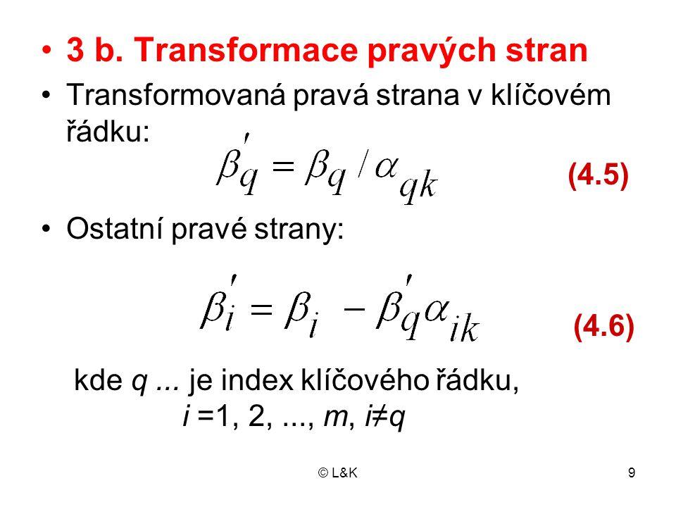 3 b. Transformace pravých stran