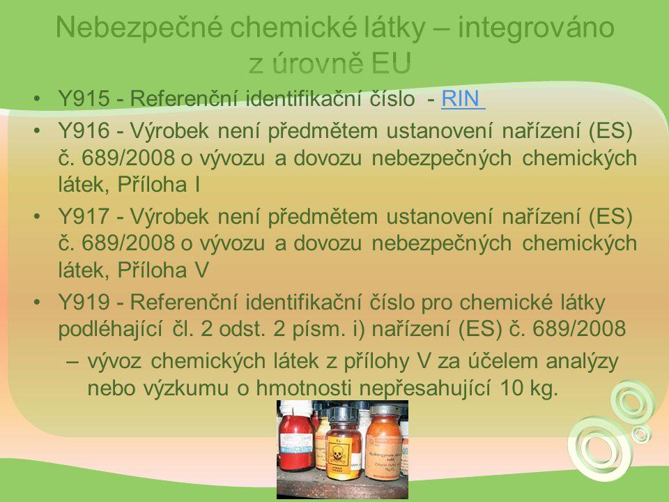 Nebezpečné chemické látky – integrováno z úrovně EU