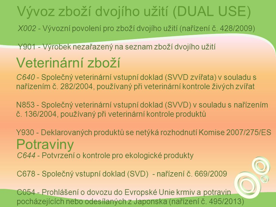 Vývoz zboží dvojího užití (DUAL USE)