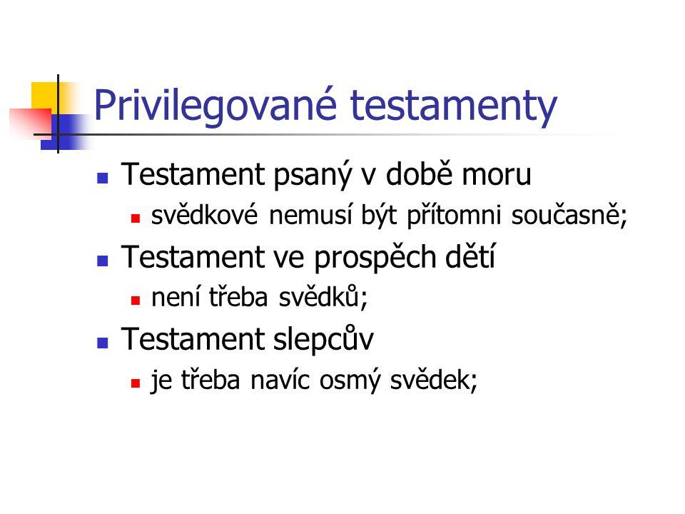 Privilegované testamenty