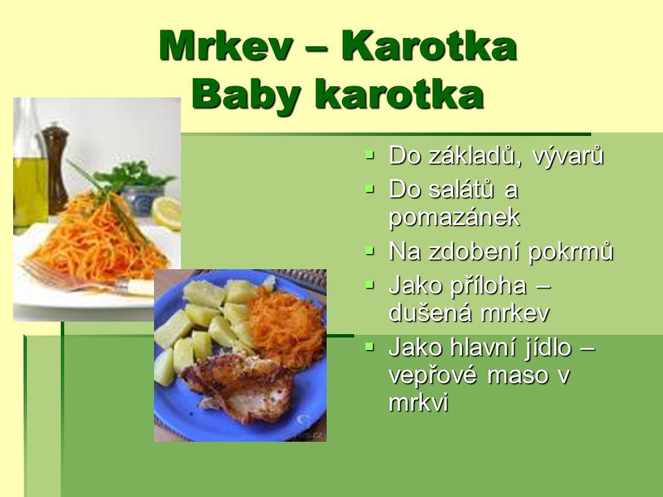 Mrkev – Karotka Baby karotka
