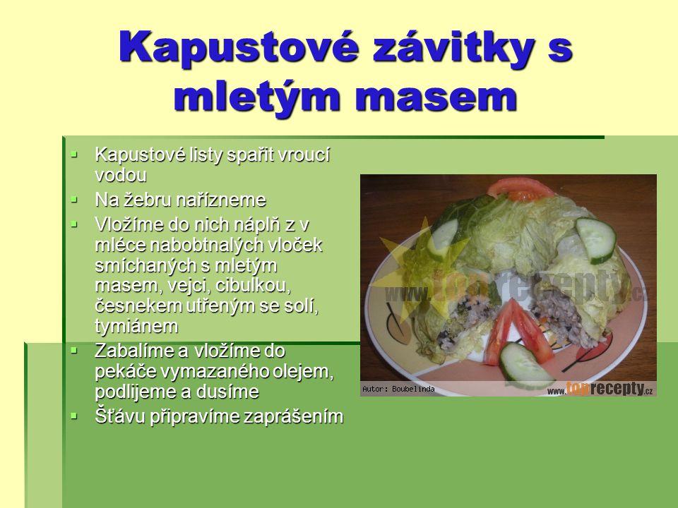 Kapustové závitky s mletým masem