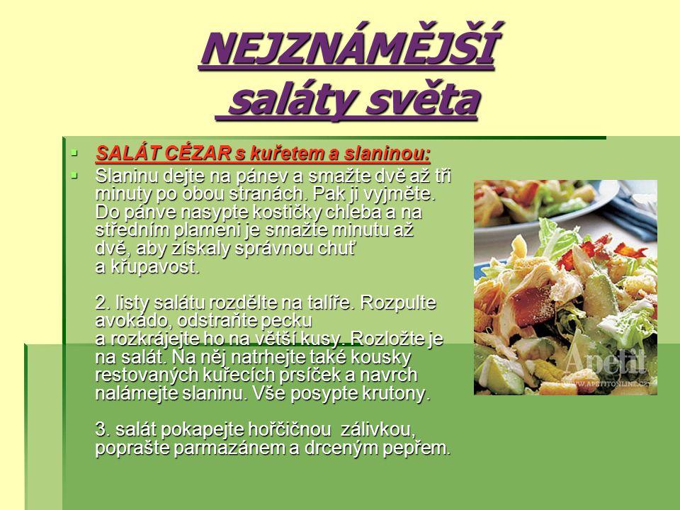 NEJZNÁMĚJŠÍ saláty světa
