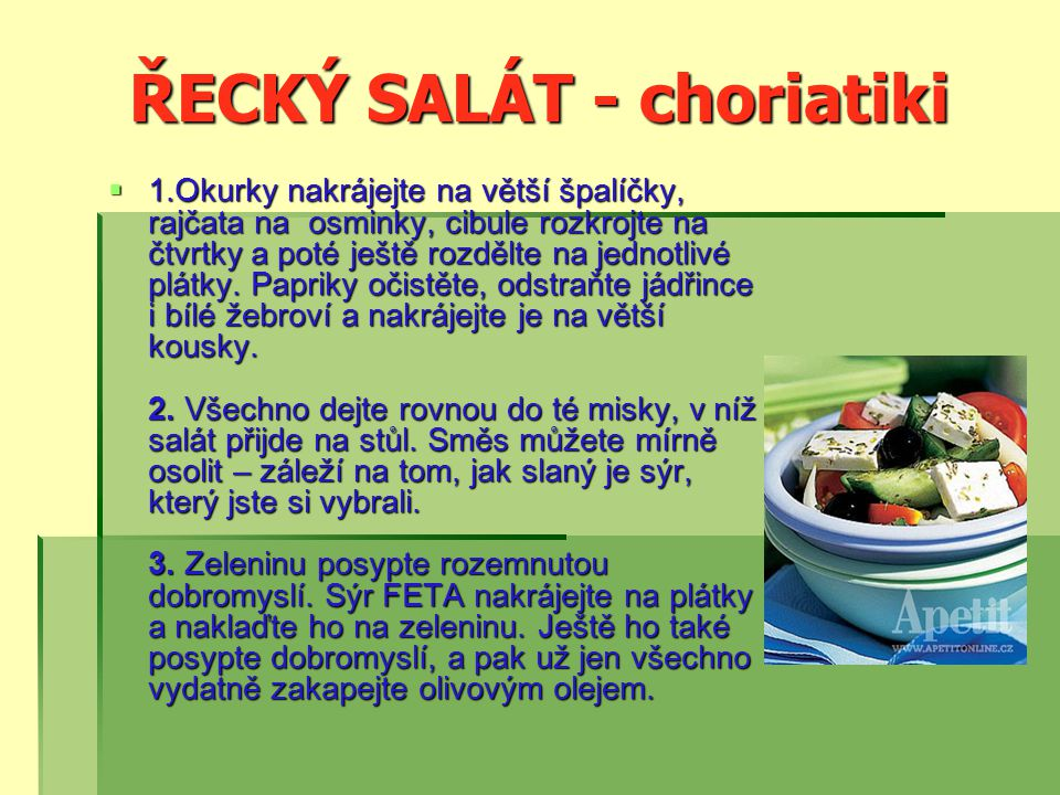 ŘECKÝ SALÁT - choriatiki