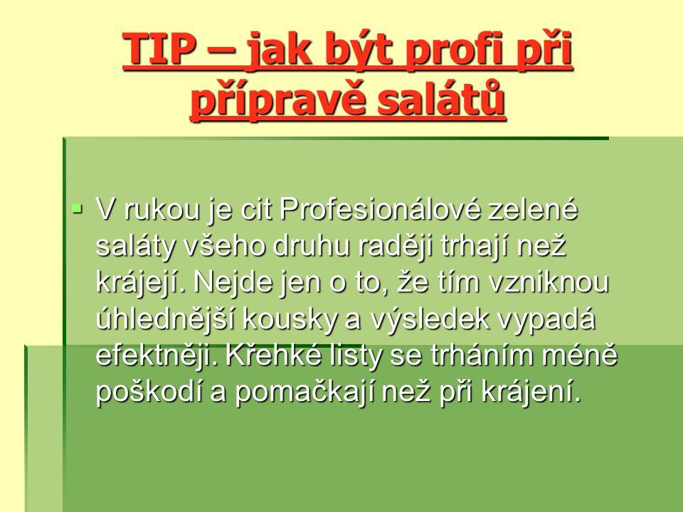 TIP – jak být profi při přípravě salátů