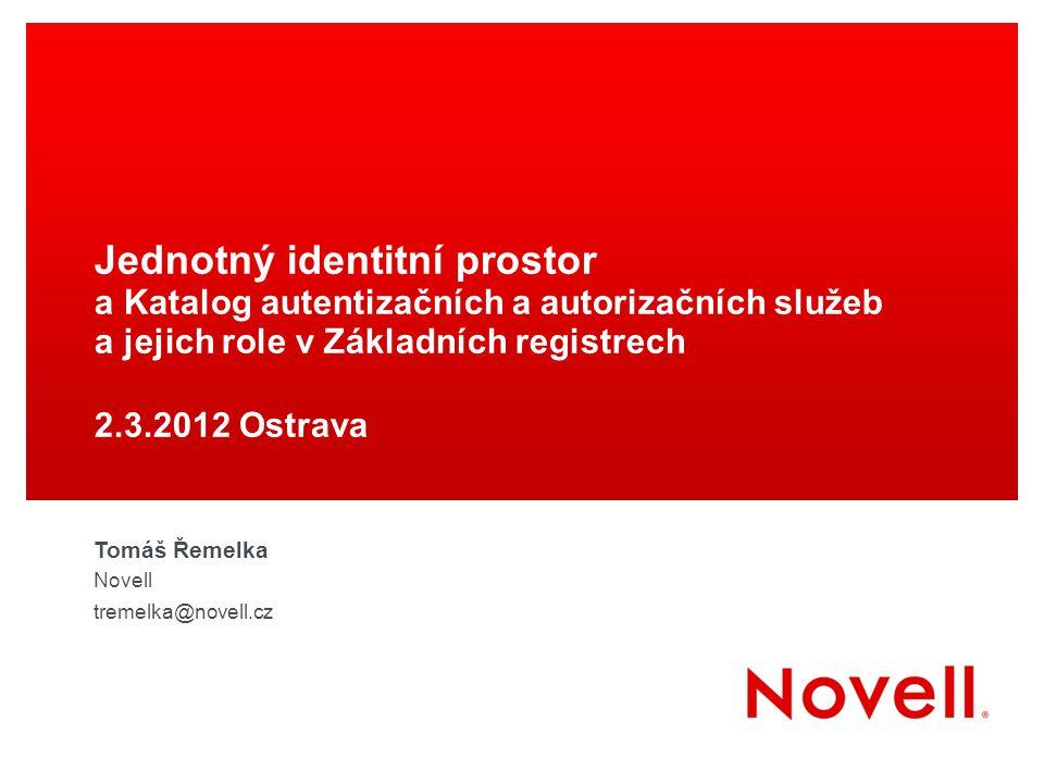 Jednotný identitní prostor a Katalog autentizačních a autorizačních služeb a jejich role v Základních registrech