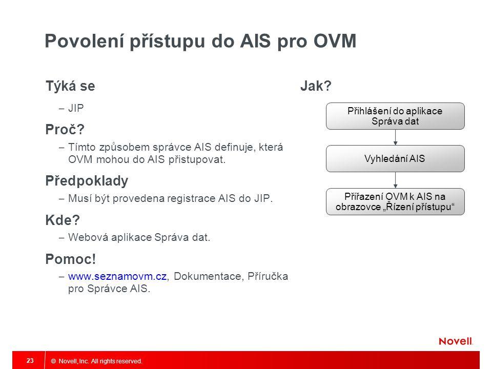 Povolení přístupu do AIS pro OVM