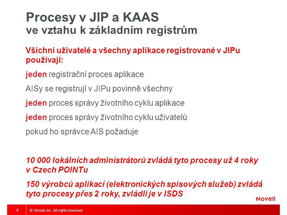 Procesy v JIP a KAAS ve vztahu k základním registrům