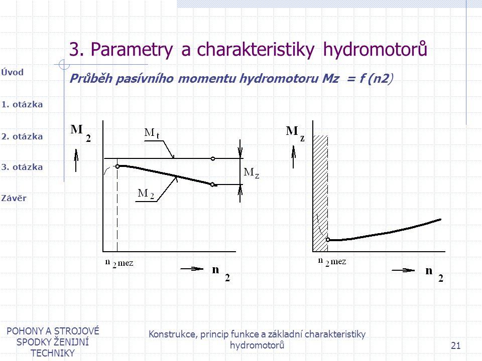 3. Parametry a charakteristiky hydromotorů