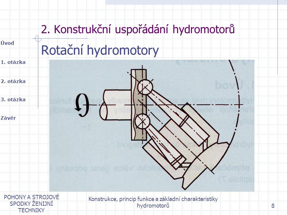 2. Konstrukční uspořádání hydromotorů