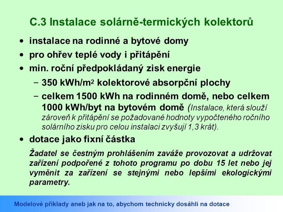 C.3 Instalace solárně-termických kolektorů