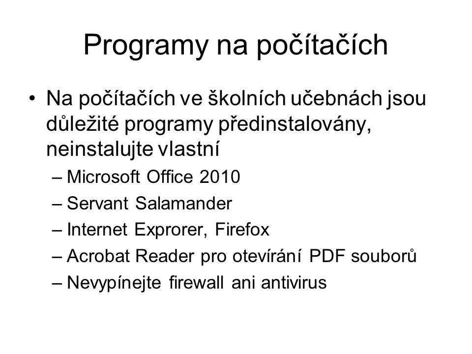 Programy na počítačích