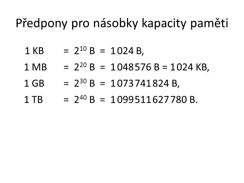 Předpony pro násobky kapacity paměti
