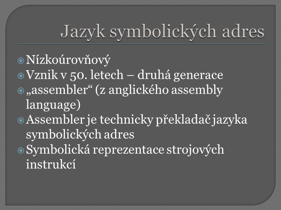 Jazyk symbolických adres