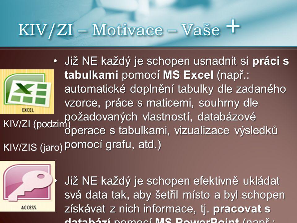 KIV/ZI – Motivace – Vaše +