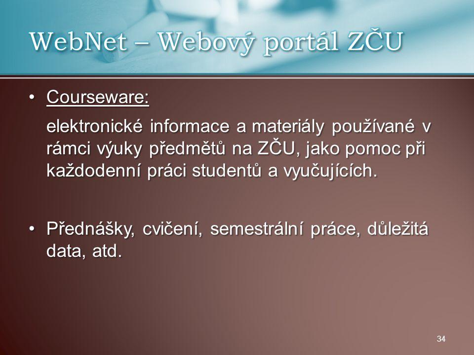 WebNet – Webový portál ZČU