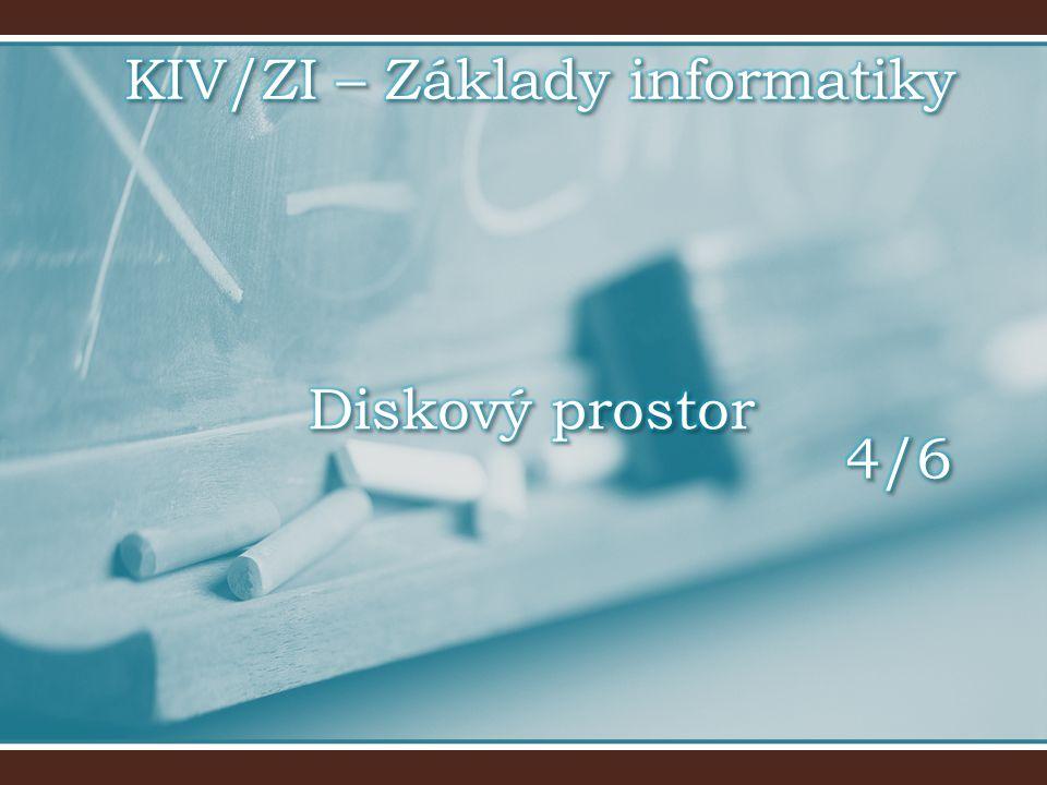 KIV/ZI – Základy informatiky