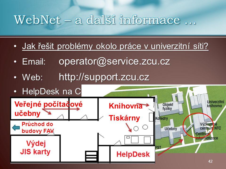 WebNet – a další informace …