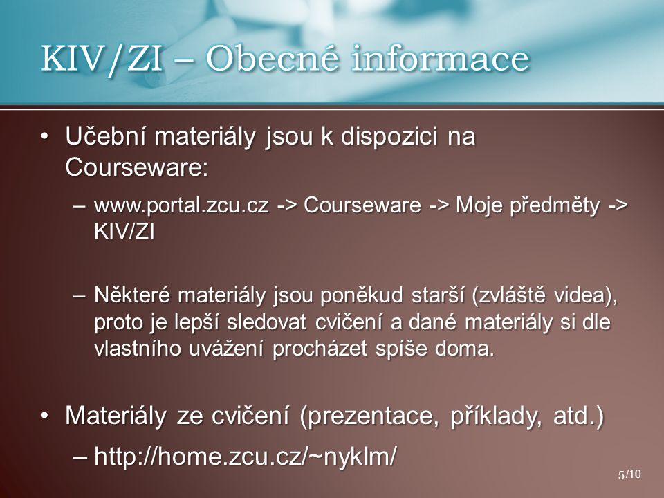 KIV/ZI – Obecné informace