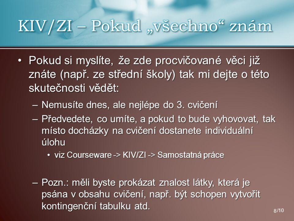 """KIV/ZI – Pokud """"všechno znám"""