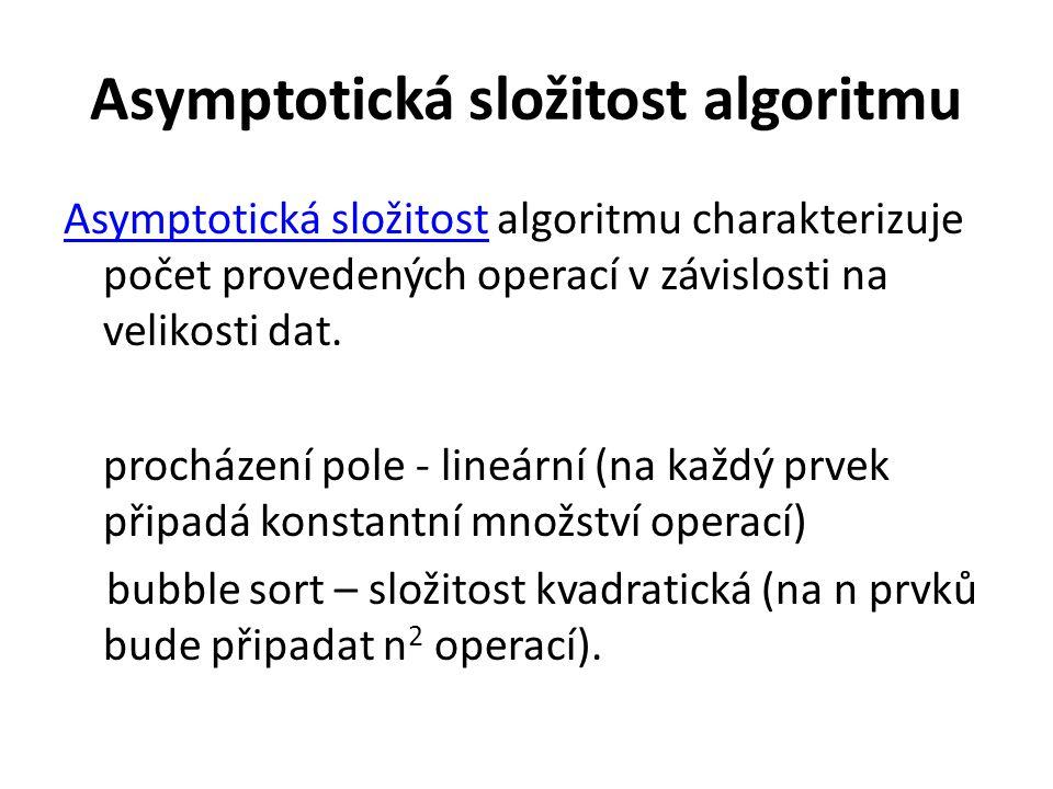 Asymptotická složitost algoritmu