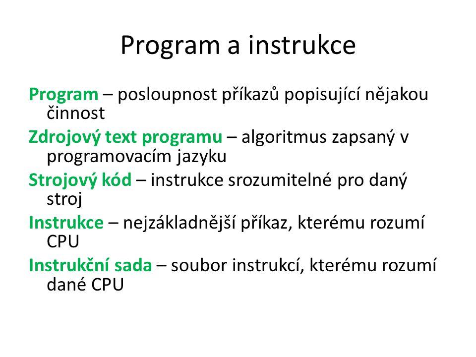 Program a instrukce