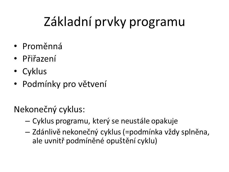 Základní prvky programu