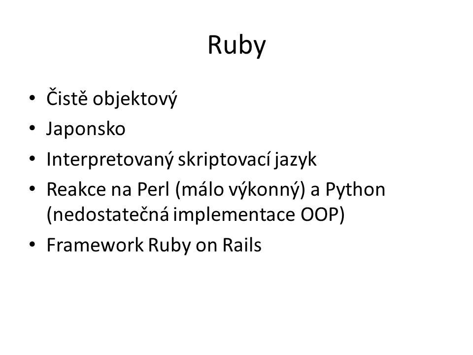 Ruby Čistě objektový Japonsko Interpretovaný skriptovací jazyk