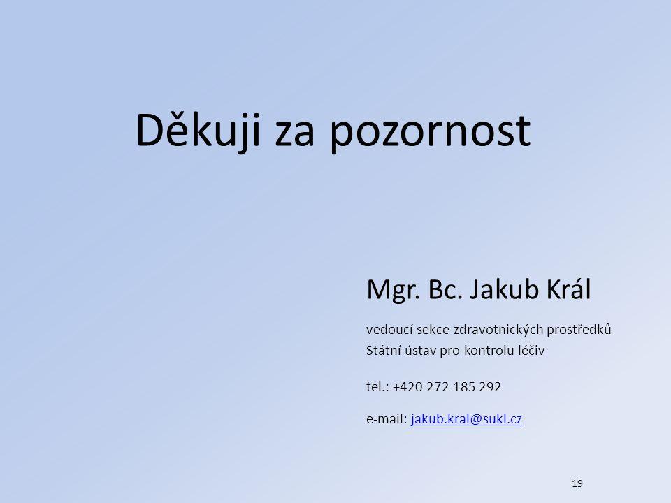 Děkuji za pozornost Mgr. Bc. Jakub Král