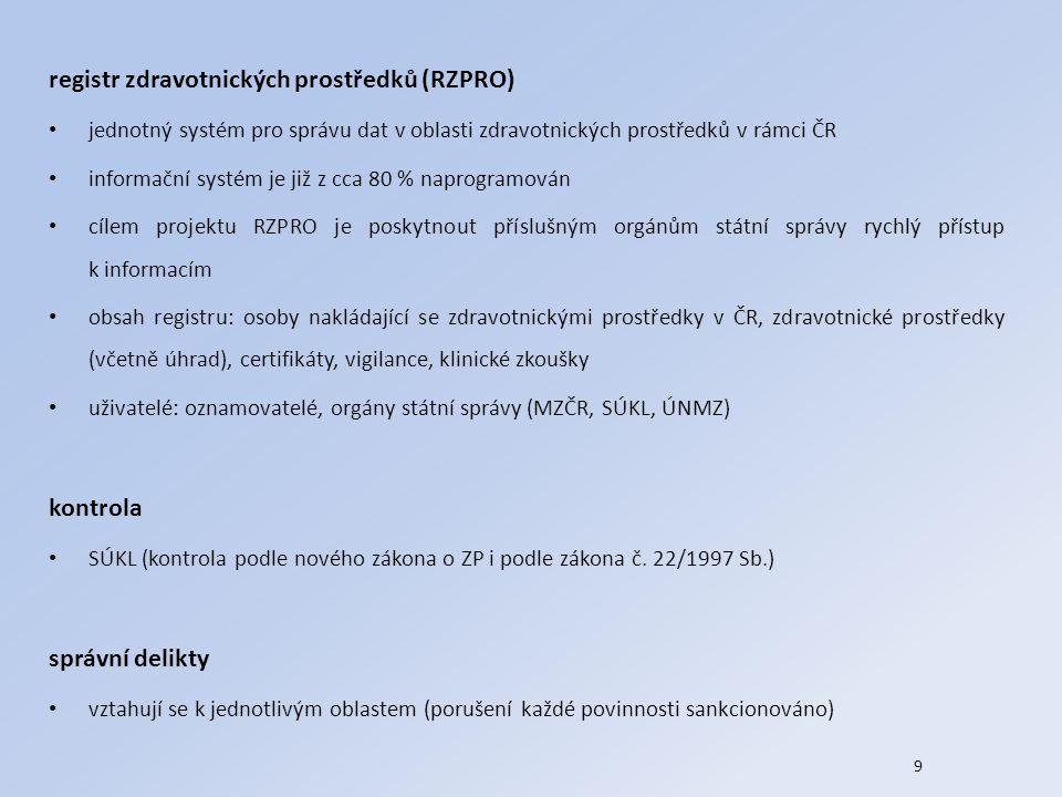 registr zdravotnických prostředků (RZPRO)
