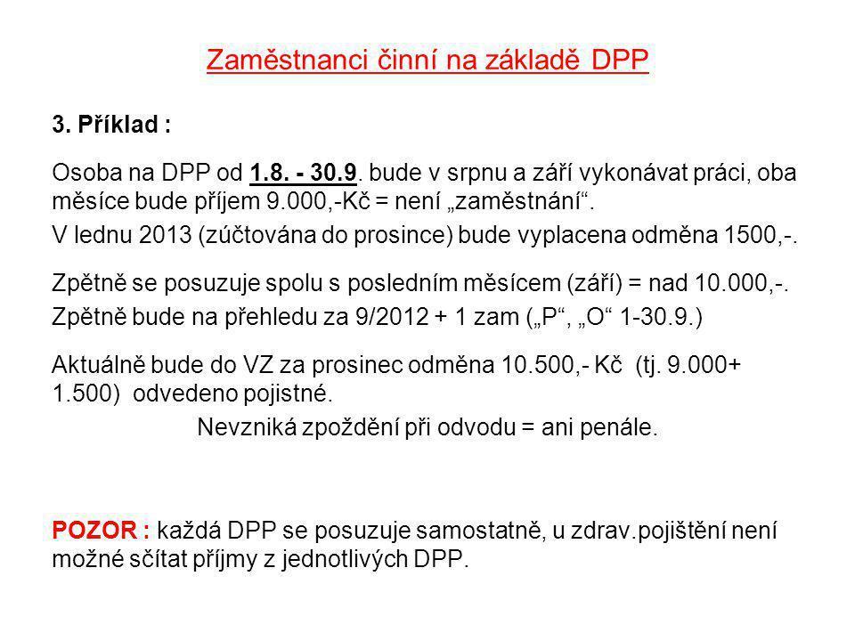 Zaměstnanci činní na základě DPP